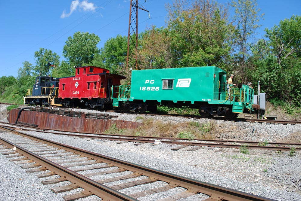 Diesel Train with Cabooses