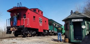BR&P Caboose at Switch 6
